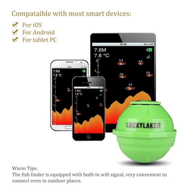 Sonar Wireless WIFI Fish Finder 50M/130ft