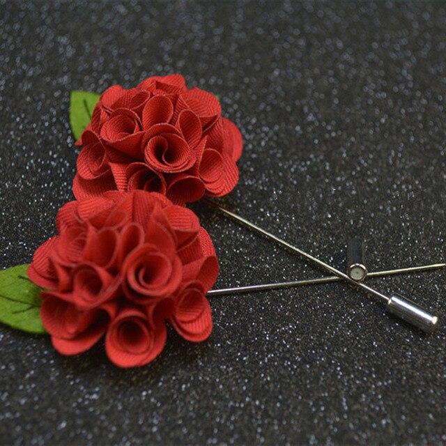Mdiger brand fashion forlal mens lapel pin red flower brooch for mdiger brand fashion forlal mens lapel pin red flower brooch for suit decor for wedding groomsman mightylinksfo
