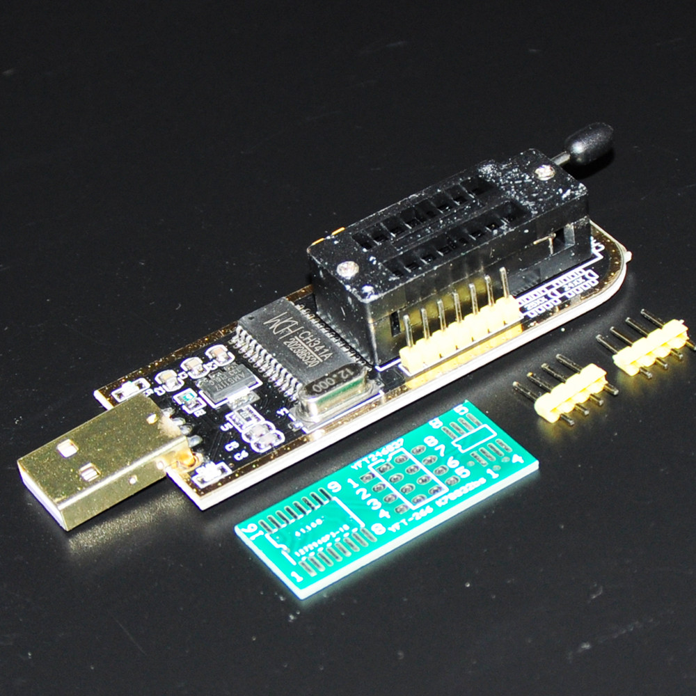 CH341A USB Programmer 24 25 Series EEPROM Flash BIOS CH341A Module Boards  With Software Driver Adapter Recorder Electronics