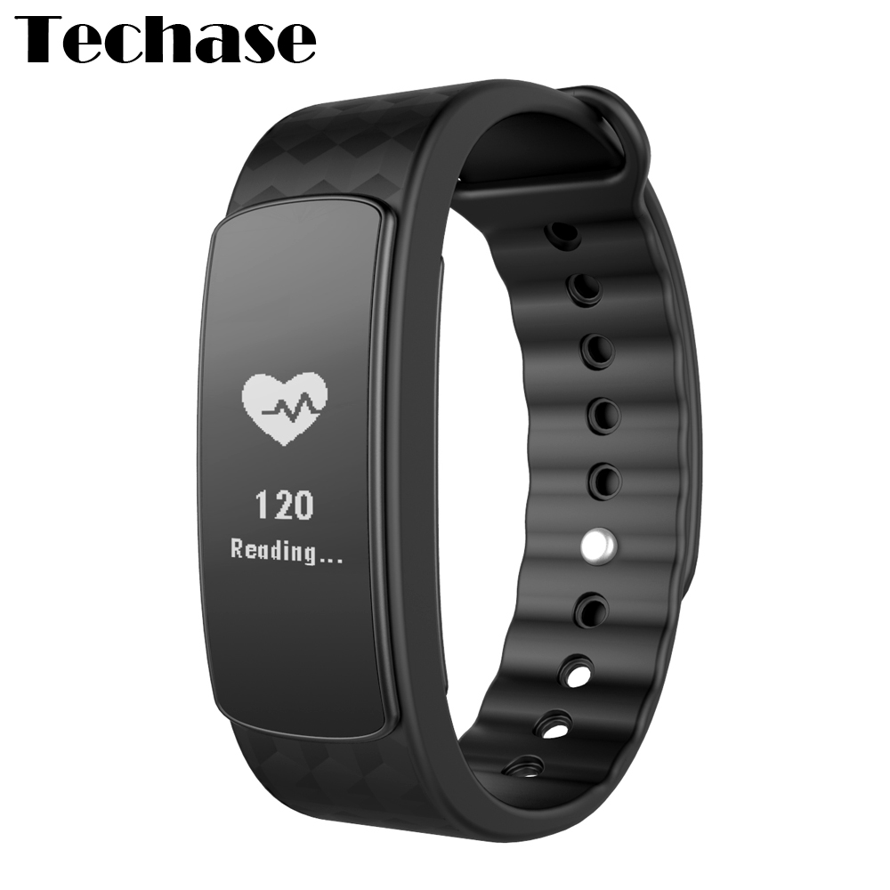 Techase I3 HR Smart Band Bluetooth Activity Tracker Heart Rate Monitor Pulsometer Touch Screen Record Fitness