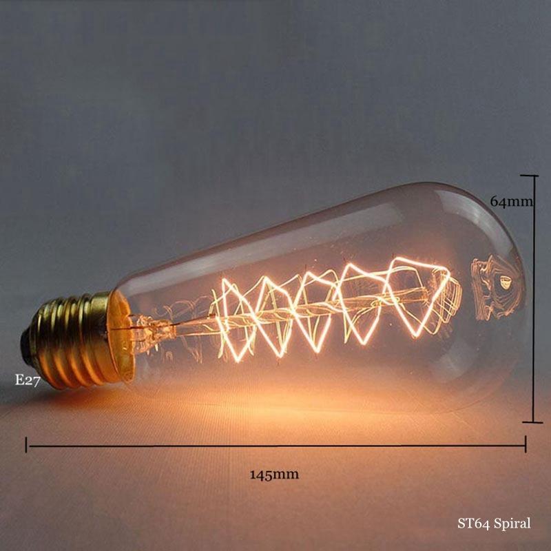 Retro Vintage Edison Bulb E27 40W 60W 220v Vintage Bulb Edison Lamp Filament Incandescent Light Bulb Led Retro Lamp Decor