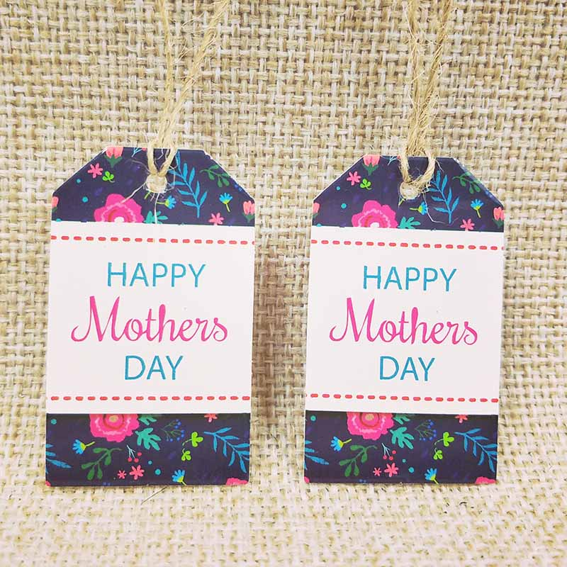 100Pcs Happy Mothers' Day Tag Garment Label Paper Tag For Mother Gift  Tag  Thank You Handmade Tag