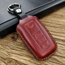 Handmade Genuine Leather Car Key Cover Case Key Set For TOYOTA CAMRY  Key fob Cover case Bag soft tpu car key case cover keychain for toyota avalon 8 camry 2019 levin ioza chr