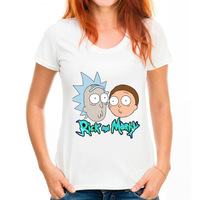 Plus Size Summer 6XL 5XL Rick And Morty Printing Women T Shirt Short Sleeve Loose O
