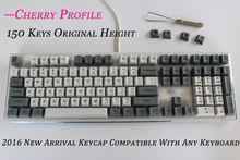 150 keys PBT, Radium vulture Cherry Profile Original height Cherry MX switch keycaps for Wired USB Mechanical Gaming keyboard