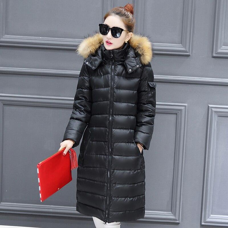 Lady rose Femmes Haute Blue Qualité Nouvelle Long Hiver dark Chaud Bas Veste Black Jacketc Extended Manteau Série 2019 Parc D'hiver dYxqHR
