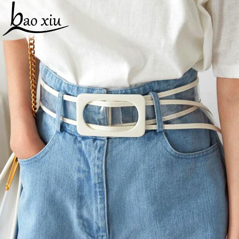 Brand design   Belt   Wedding   Belt   New Fashion Accessories Casual Female   Belts   Plastic Wild PVC Material Transparent Women   Belts