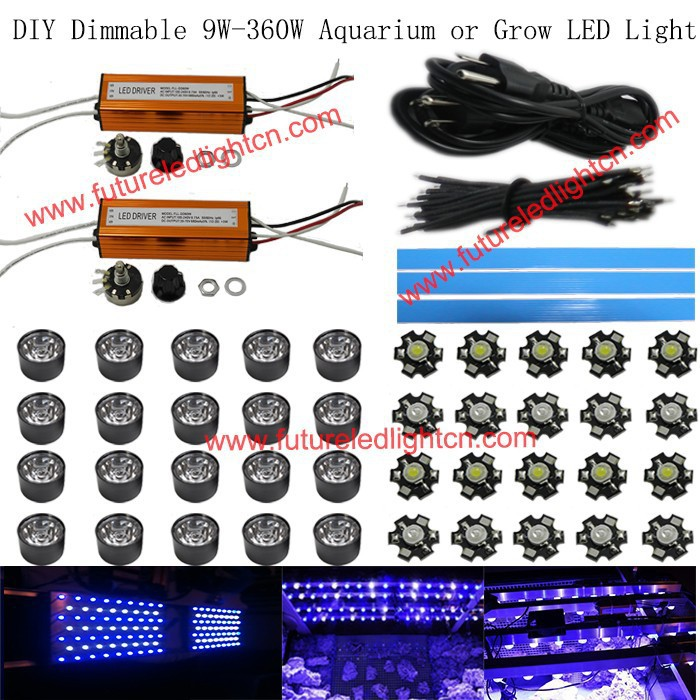 1lot dimmable Led reef coral growing light aquarium 120W in Light &Lighting,40*3W,3W Bridgelux chip,high quality,Dropshipping