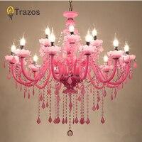 2019 люстра современная розовая большая люстра роскошное современное освещение люстры модные роскошные розовые прозрачные K9 кристалл