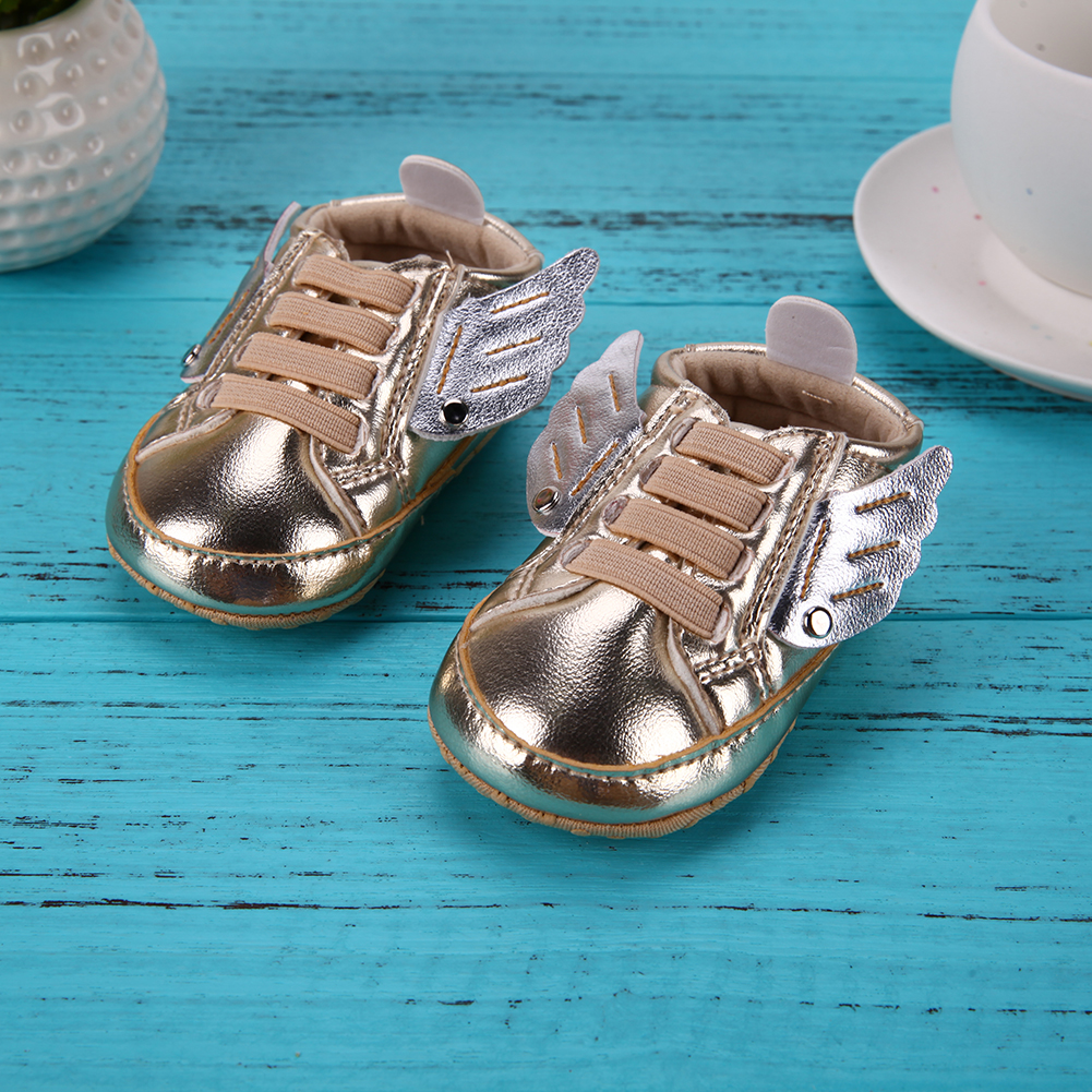Baby Shoes For Newborn Girls Boys Non-Slip First Walkers Wing Baby Moccasins Soft Sole Shoes Spring Autumn Sneakers