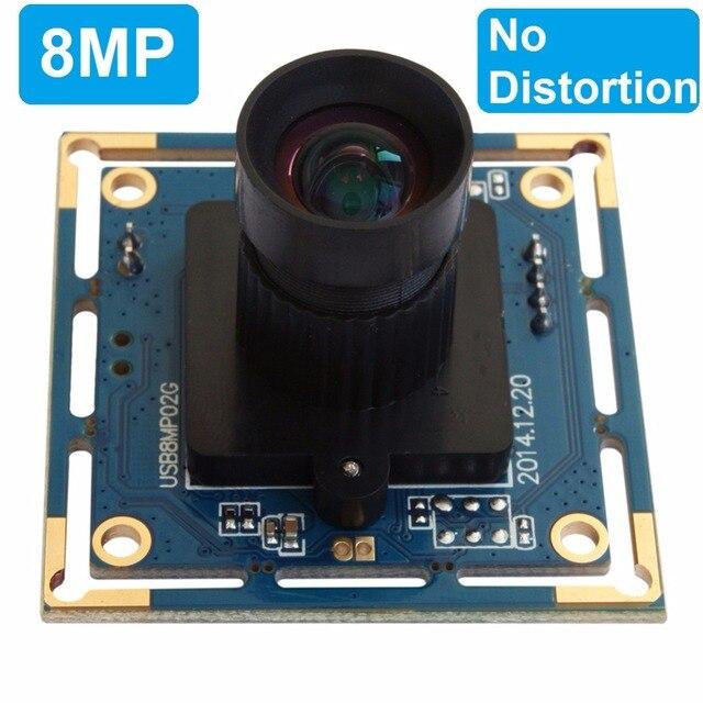 8 megapixel Micro digital SONY IMX179 USB 8MP hd Webcam High Speed Usb 2.0 CCTV Usb camera Board with 75degreeno distortion lens