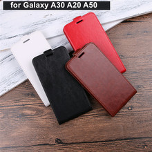 XINGDUO Phone Case for Samsung Galaxy A30 A20 Cover Vertical PU Leather Flip A50 cover