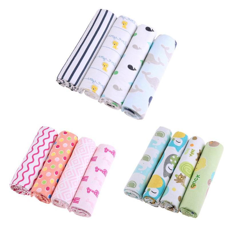 Newborn Baby Blankets 4pcs/set Toddler Swaddle Towels Soft Infants Bedding Quilt Baby Sleepsack Towel Stroller Cover Play Mat
