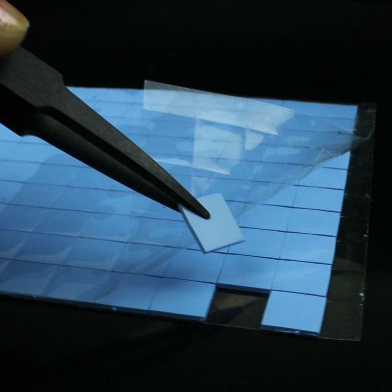 100 Pcs Blue 10mm*10mm*1mm GPU CPU Heatsink Cooling Conductive Silicone Pad Thermal Pad 5