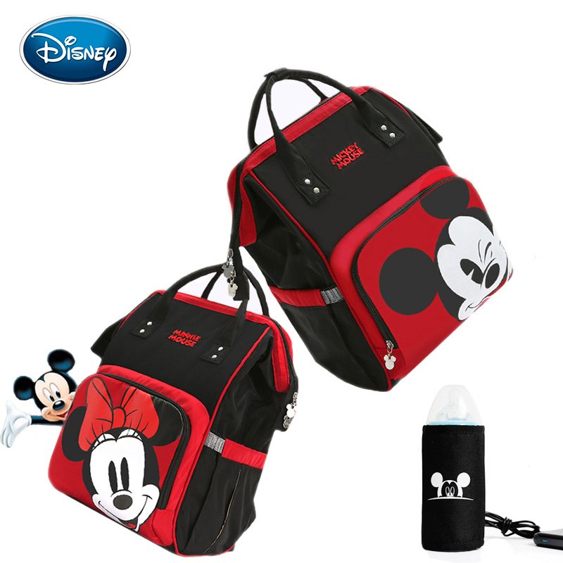 Disney Diaper Bag Backpack USB Bottle Insulation Bags Minnie Mickey Big Capacity Travel Oxford Feeding Baby Mummy HandbagDisney Diaper Bag Backpack USB Bottle Insulation Bags Minnie Mickey Big Capacity Travel Oxford Feeding Baby Mummy Handbag