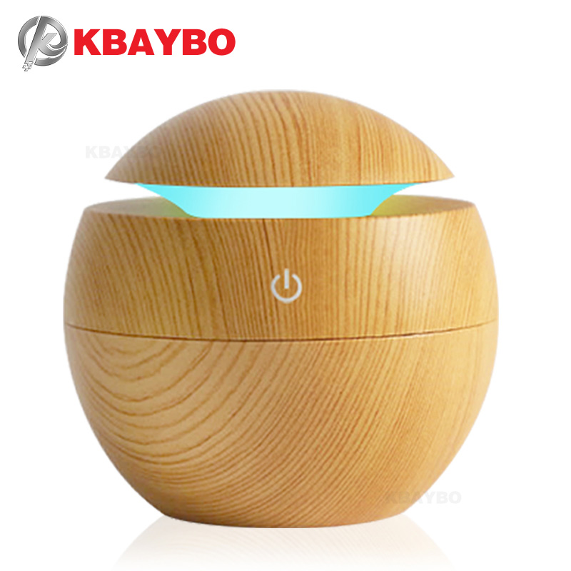 USB Aroma Difusor Óleo Essencial Ultrasonic Humidificador de vapor Frio Purificador de Ar 7 Alterar Cor LED Night light para Home Office
