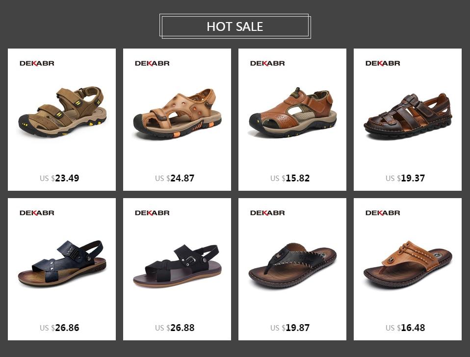 Dekabr High Quality Men Sandals Fashion Genuine Leather Casual Shoes Classic Style Male Sandals Breathable Summer Shoes For Men 130110 Boys Sandals Dansko Sandals From Shoe Capital 56 43 Dhgate Com