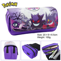 Anime Pokemon Haunter Boy Girl Cartoon Pencil Case Bag School Pouches Children Student Pen Bag Kids