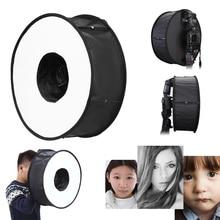 45cm 18 Foldable Ring Speedlight Flash Softbox Diffuser Macro Shoot Round Soft box Speedlite for Canon Nikon Sony Pentax Godox цена