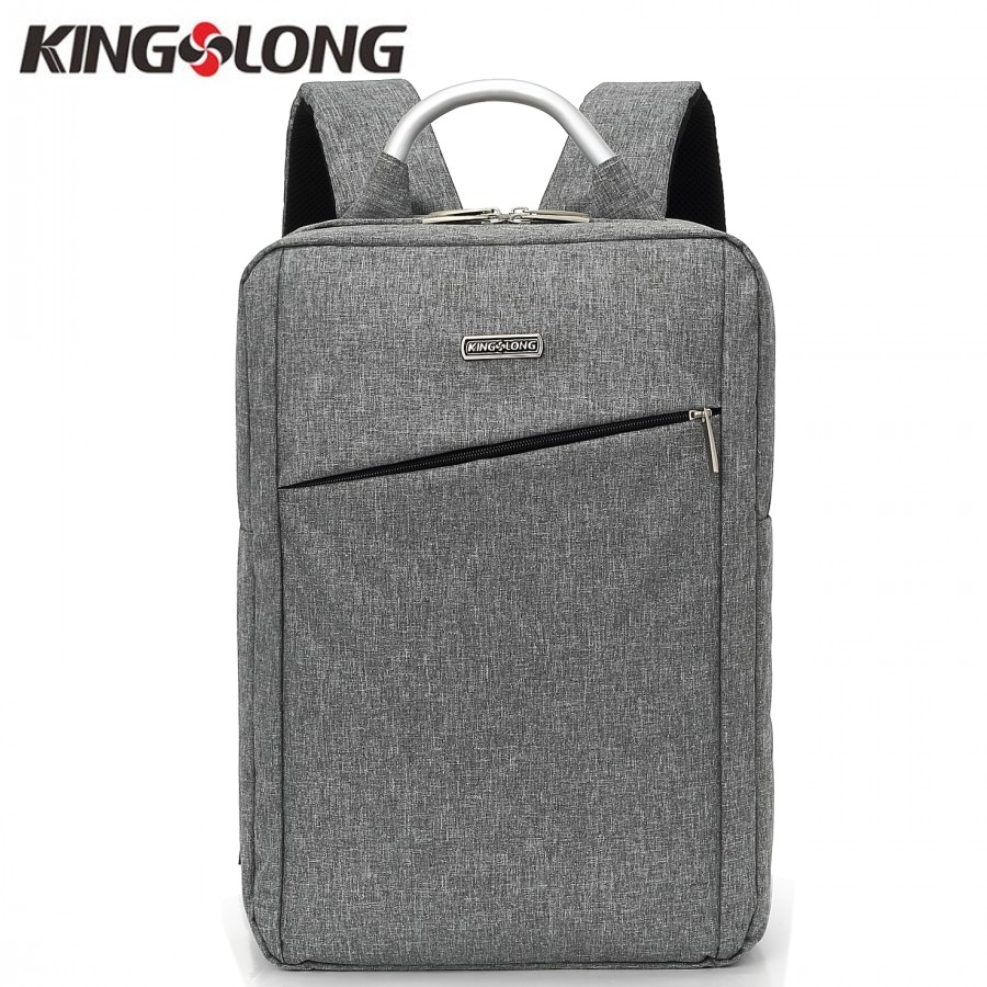 Kingslong New Men Backpack 15.6 Inch Laptop Backpack Business Male Mochila Metal Handle Travel Backpack School Bag Klb1388-3