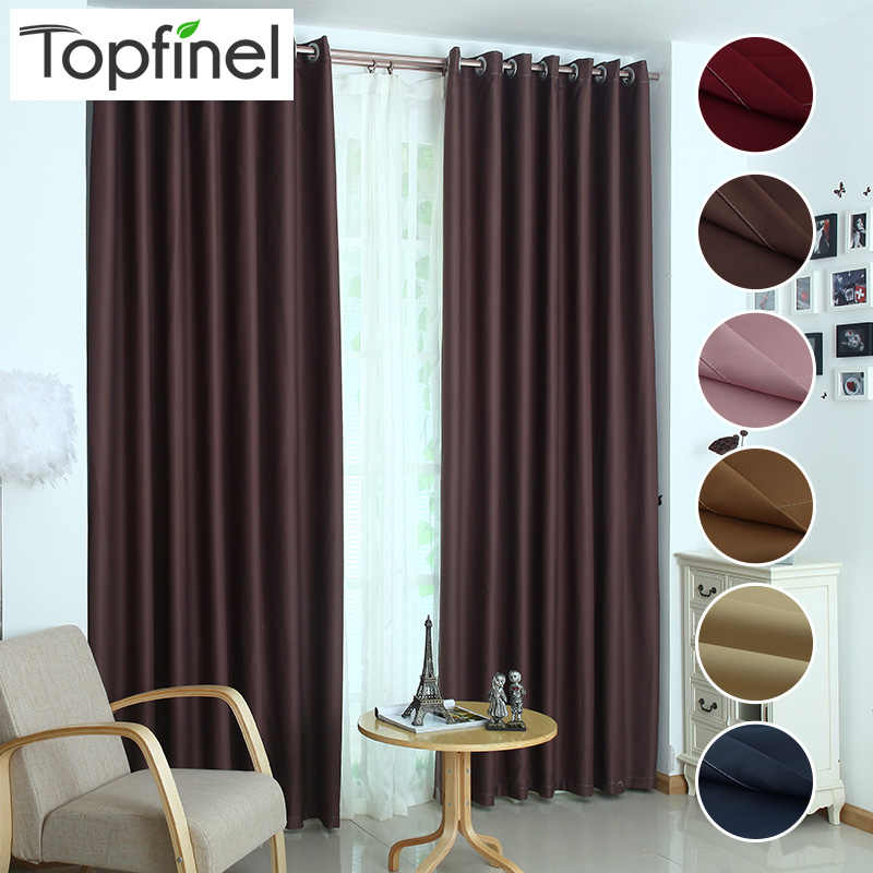 Topfinel luxury modern shade blinds window blackout curtains for kitchen living room the bedroom windows treatments fabric