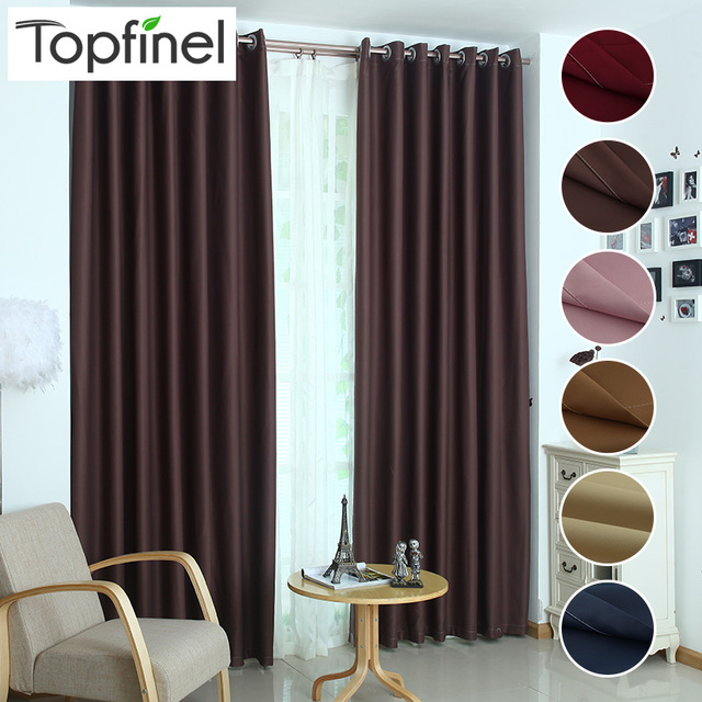 Top Finel luxury modern shade blinds window blackout curtains for ...