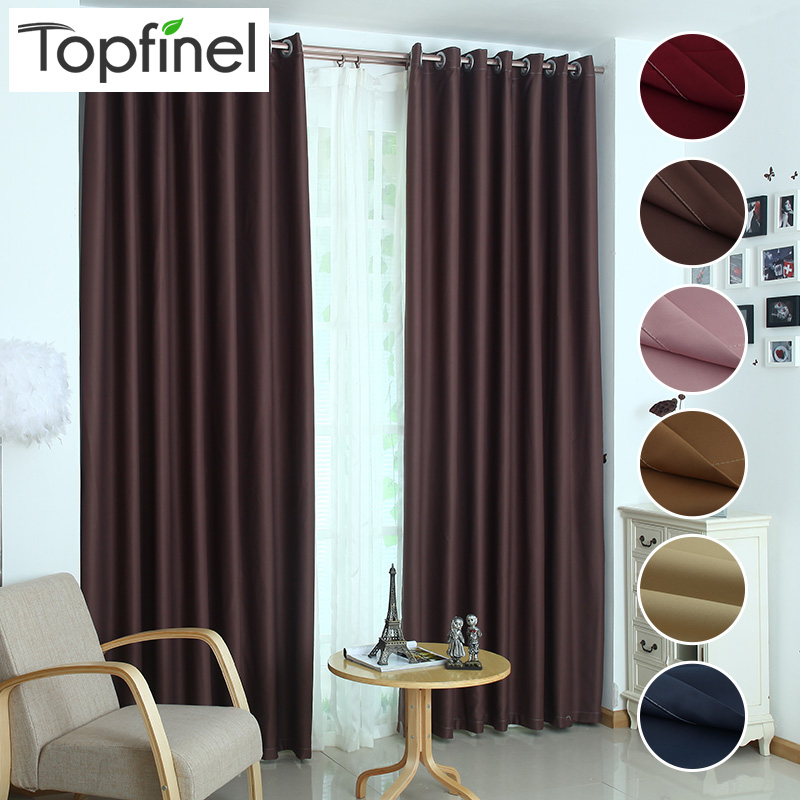 Topfinel mewah modern warna tirai jendela pemadaman tirai untuk dapur ruang tamu kamar tidur perawatan kain jendela