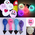 LEDGOO 10 Pcs/Lot LED Party Lights Balloons Heart Shape I Love You Led Light For Wedding Decoration