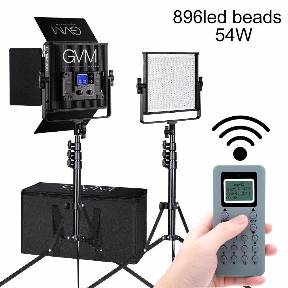 Gvm Photo Studio Led Ring Light: GVM CRI97 LED Video Light Remote 2300K 6800K 896 LED