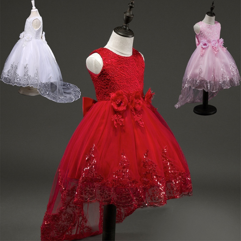 Подробнее о 2017 Flower Girl Dresses Princess Party Toddler  For Weddings Ball Gown Tulle Appliques Lace Bow Children Clothing Kids Clothes 2017 new princess party wear toddler girls dresses kids clothes elegant child flower girl lace ivory kids dress for weddings