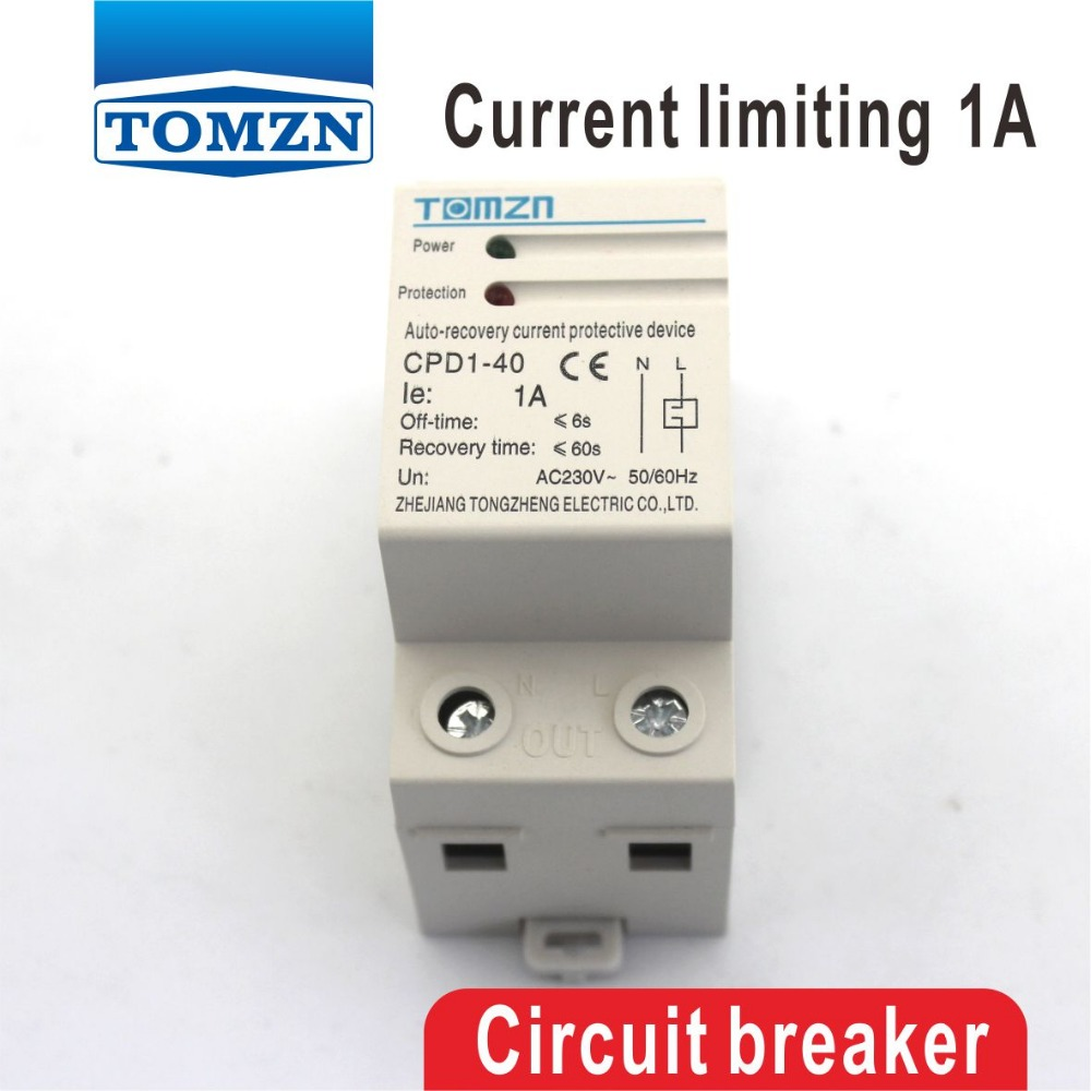 1a Cpd 63 690w Household Din Rail Automatic Recovery Reconnect Current Limiting Circuit Protective Device Protector In Breakers From Home Improvement On