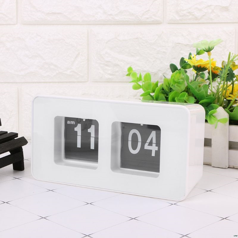 Clássico à Moda Relógio de Parede Decoração da Sua Retro Auto Flip Clock Número Moderna Mesa Casa