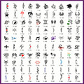 Book 7 100 Designs Airbrush Tattoo Stencil Book For Temporary Spray Body Paint Makeup Free Shipping