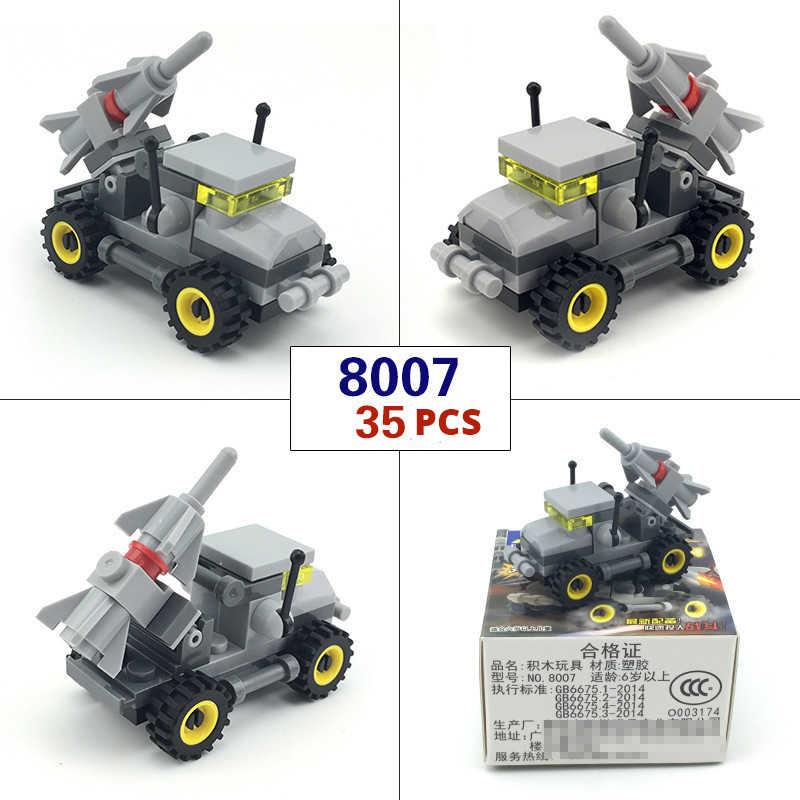 アメカジミニ輸送軍の車シリーズビルディングブロック軍事タンクレンガテクニック車子供教育玩具子供のため