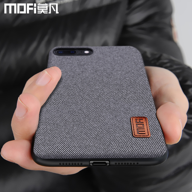 MOFi iPhone 7 8 Plus Luxury Fabric Shockproof Back Case Cover