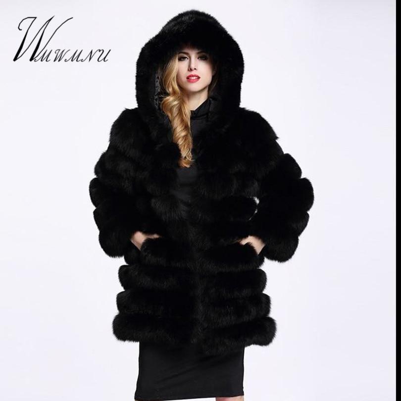 Faux Fox Fur Coat 2
