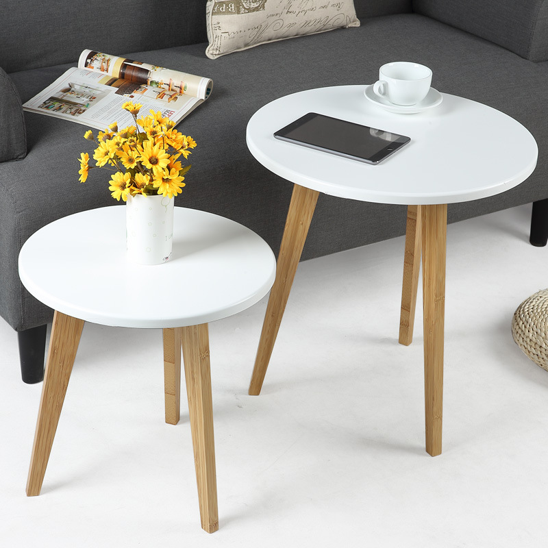 Minimalist Modern Design Classic Side Table, fashion popular design small coffee desk round snack table living room furniture solid pine wood folding round table 90cm natural cherry finish living room furniture modern large low round coffee table design