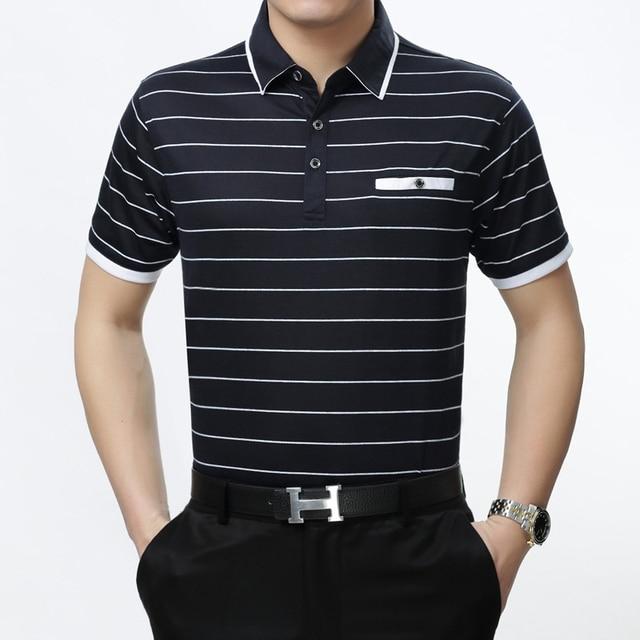 19 Colors Polo Shirt Men 2017 Short Sleeve Striped Plaid Mens Polo Shirt Brands Polos Hombre Manga Corta Marca Camisa Polo Homme