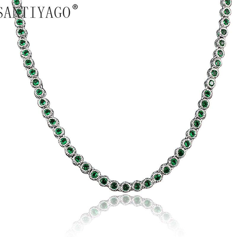Bijoux de mariage collier robe longueur 45 cm haut niveau Zircon collier pour les femmes cristal collier ras du cou femmes