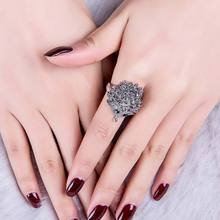 Vintage Punk Ring Unique Carved Antique Hedgehog Lucky Rings for Women Boho Beach Wedding Party Jewelry CX19