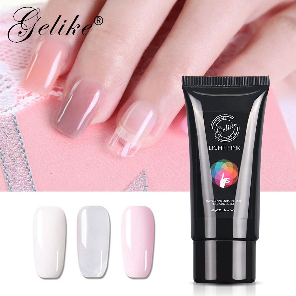 gelike poly gel pink white clear