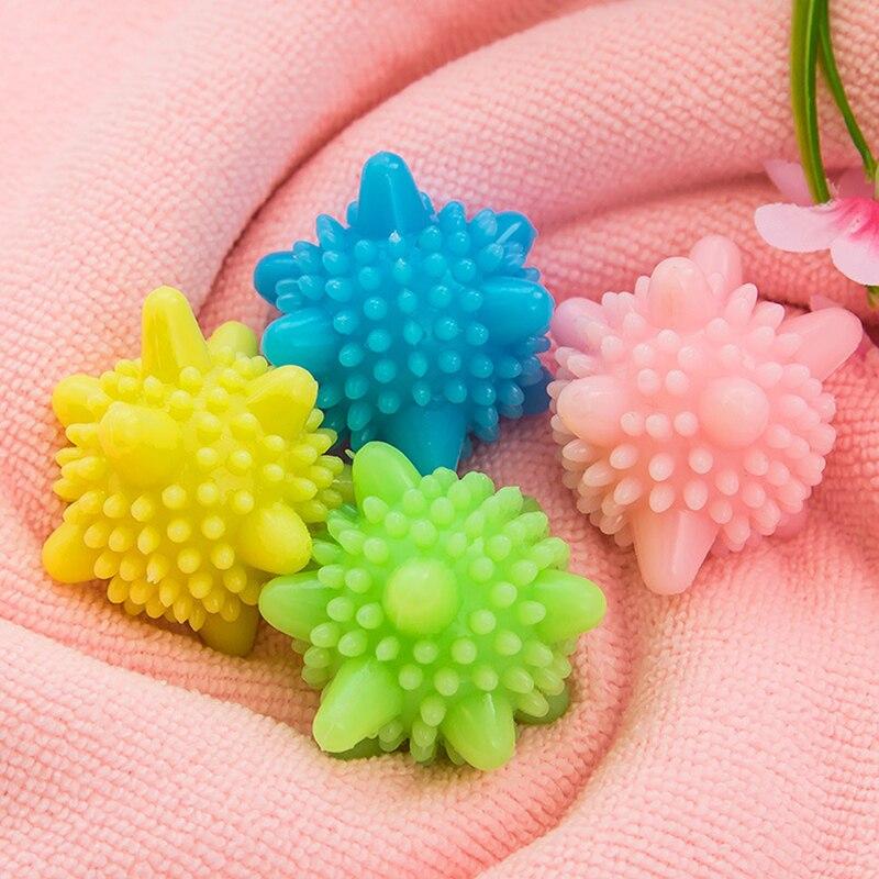 Bola mágica para lavagem de roupa 5 pçs/lote, para máquina de lavar roupa doméstica, removedor de roupas, forma de estrelar, bolas sólidas de limpeza