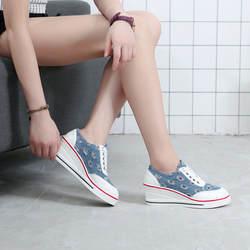 Джинсовая обувь женские кроссовки 2018 женские кроссовки schoenen vrouw zapatilla джинсы Повседневная парусиновая подиумная женская обувь