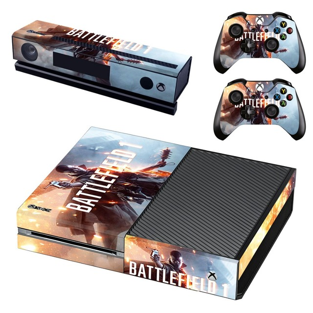 Vinyl skin cover stickers battlefield 1 decal for xbox one console kinect 2 controller