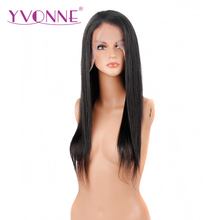 YVONNE Straight Full Lace Human Hair Wigs Brazilian Virgin Hair 180 Density Natural Color Free Shipping