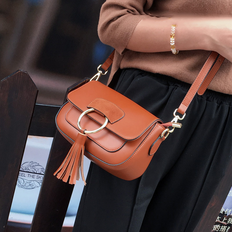 2017 New arrival leather handbags fashion shoulder bag genuine leather cross body bags Saddle bag brand women messenger bags irf540 irf540n 100v 33a to 220