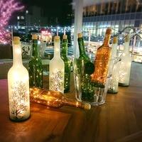 New Innovative Starry Sky LED Empty Wine Bottle Stopper Copper DIY Cork Light String Fairy Night