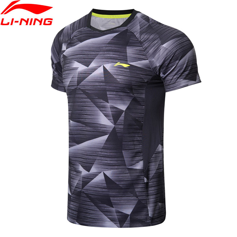 Li-Ning Mens Badminton T-Shirts AT DRY Breathable Comfort Fitness Competition Top LiNing Sports Tees T-Shirt AAYN259 MTS2845Li-Ning Mens Badminton T-Shirts AT DRY Breathable Comfort Fitness Competition Top LiNing Sports Tees T-Shirt AAYN259 MTS2845