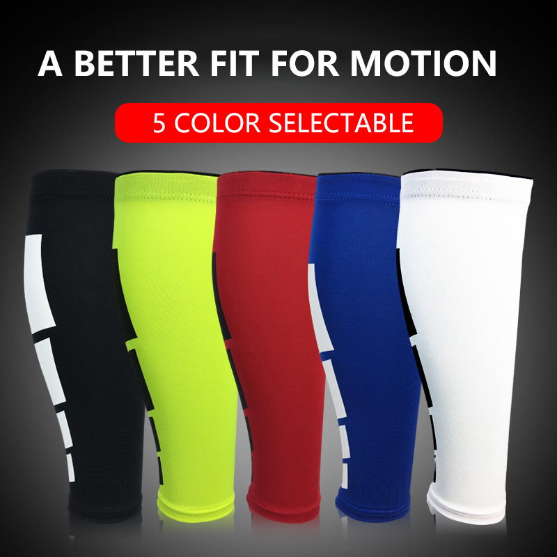 Professional Sports elastic Leggings Sleeves compression stretch protection leg socks outdoor basketball football protector gear