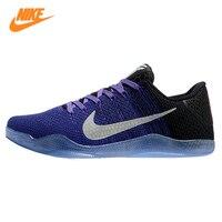 Nike Kobe 11 Elite Low Для Мужчин's Баскетбольные кеды, Для мужчин оригинальный Спортивная обувь удобная дышащая Резиновая Спортивная обувь, фиолетов